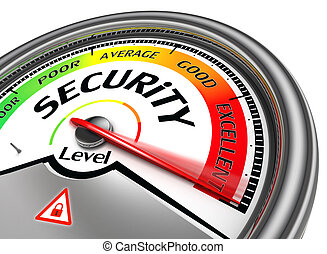 conceptueel, veiligheid, meter, niveau