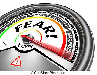 conceptueel, vrees, meter