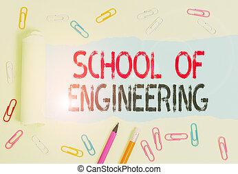 conceptuel, école, business, photo, écriture, main, collège, projection, étude, mécanique, texte, subjects., engineering., communication