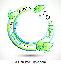 conceptuel, écologie, arrière-plan vert
