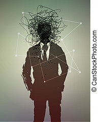 conceptuel, état, poster., mental, humain