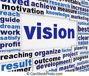 conceptuel, affiche, vision, fond