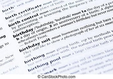 définition anniversaire de naissance