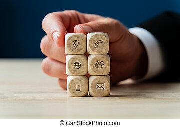 conceptuel, business, image, soutien, service
