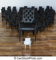 conceptuel, chaises, image