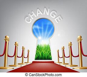 conceptuel, changement, illustration