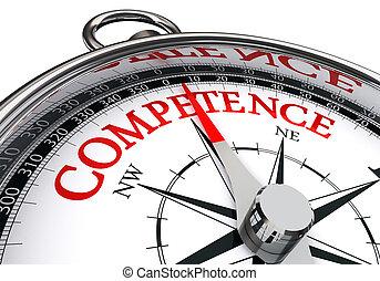 conceptuel, compétence, compas
