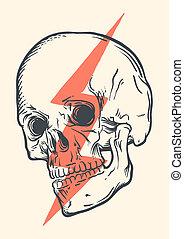 conceptuel, crâne
