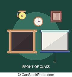conceptuel, devant, conception, classe, illustration