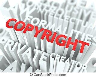 conceptuel, droit d'auteur, fond, design.