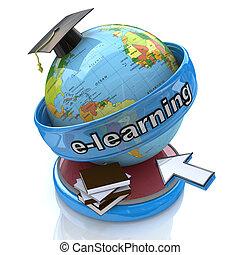 conceptuel, e-apprendre, education., image