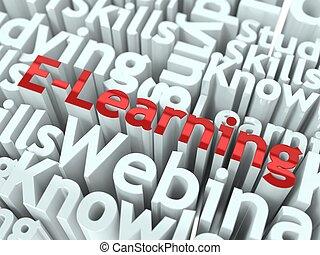 conceptuel, e-apprendre, slogan., design.