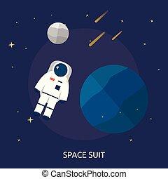 conceptuel, espace, conception, illustration, complet