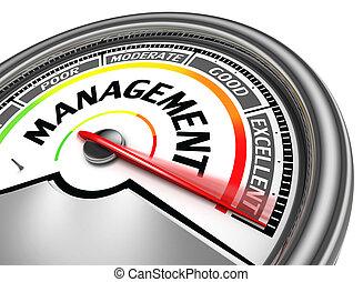 conceptuel, gestion, mètre