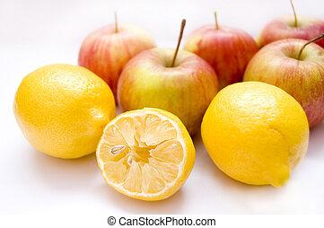 conceptuel, image., fruits