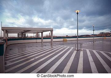 conceptuel, image., stationnement