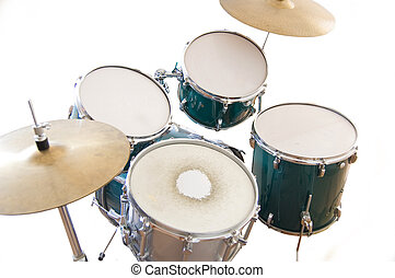 conceptuel, image., tambours