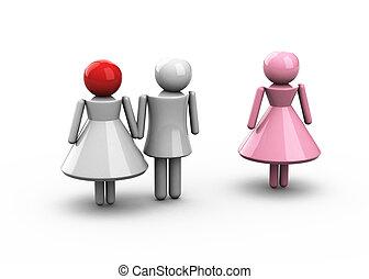 conceptuel, infidélité, marital, photo