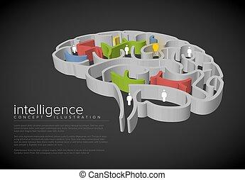conceptuel, intelligence, illustration