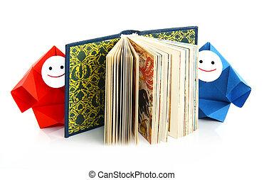conceptuel, livres, image, étudier