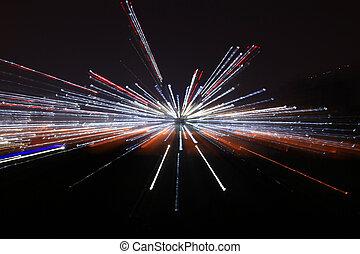 conceptuel, lumière, résumé, galaxie,  blackhole