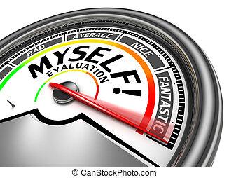 conceptuel, myself, évaluation, mètre