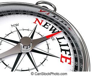 conceptuel, nouveau, compas, vie