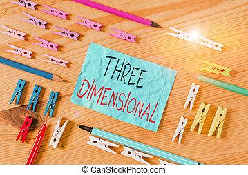 conceptuel, papiers, profondeur, showcasing, bois, avoir, boîte, photo, main, clothespin., coloré, trois, dimensional., choses, business, tourné, écriture, plancher, chiffonné, fond, espace, projection, être