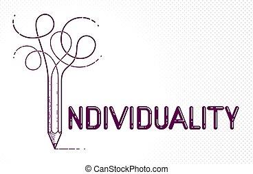 conceptuel, personnalité, individualité, concept, créatif, ...
