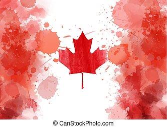 conceptuel, résumé, drapeau, canadien