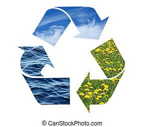 conceptuel, recyclage, signe