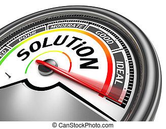 conceptuel, solution, mètre