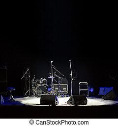 concer, palcoscenico vuoto