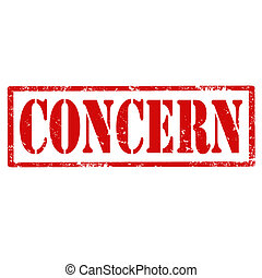 Concern-stamp - Grunge rubber stamp with text Concern,vector...