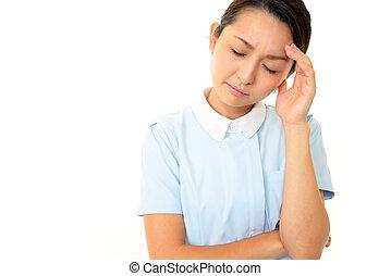 Concerned nurse