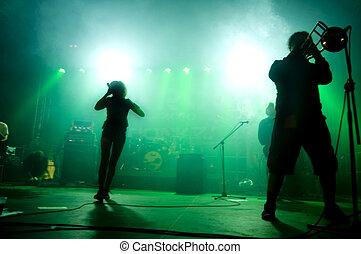 concert., バンド, ステージ