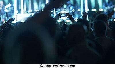 concert, apprécier, musique, ventilateurs
