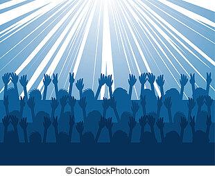 concert, audience, éclater