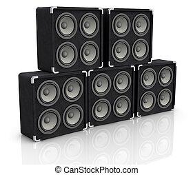 concert audio speaker - one stack of concerto audio speaker...