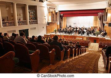 concert, auditorium