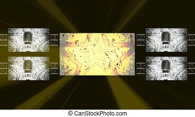 Concert Background TVs Club Lights