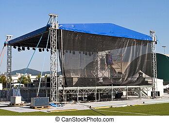Concert backstage