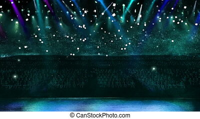 concert blue light confetti