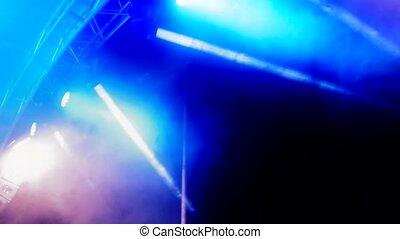 reflector lights - concert blue reflector lights