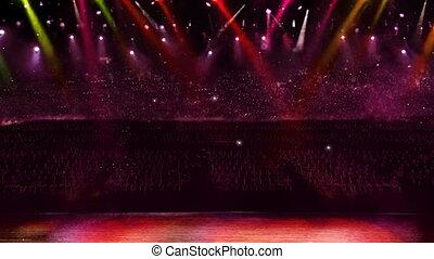 concert camera red flash light