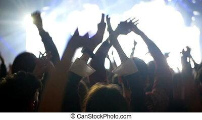 Concert crowd hand music