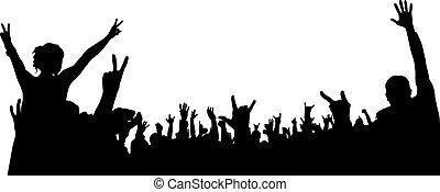 concert, crowd