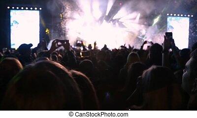 concert., flotter, air, confetti, pendant
