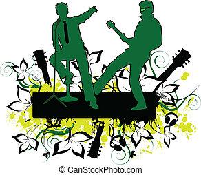 concert-grunge, hintergrund
