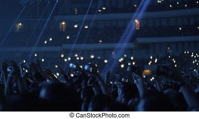 Concert in blue lights